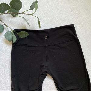 Lululemon athletica black wunder under full length